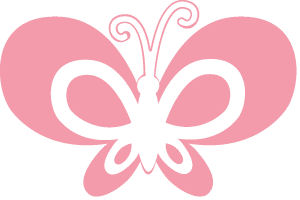 Wooden Butterfly Wall Peg Multiple Colors