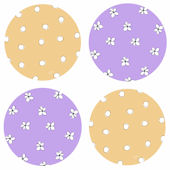 Flower Dotted Circles Kidifexs Wall Stickers