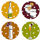 Cocktails Decorifex Peel and Stick Wall Sticker