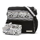Lacy Gray Diaper Messenger Bag
