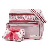 Lacy Pink Messenger Diaper Bag