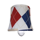Doodlefishkids Argyle Blue Nightlight