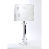 Glenna Jean Lamp Clear Lucite Base with Dot Shade