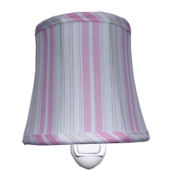 Hosue Inc. Cottage Stripe Pink Nightlight