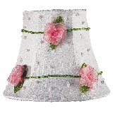 Pink Net Flower Chandelier Shade