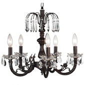 Jubilee Mocha 5 Arm Waterfall Chandelier