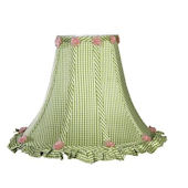 Jubilee Green Check Ruffled Edge Large Shade