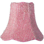 Jubilee Pink Glass Bead on Fabric Chandelier Shade