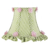 Jubilee Ruffled Edge Chandelier Shade Green Check