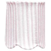 Jubilee Pink Stripe Scallop Drum Chandelier Shade