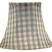 Jubilee Taupe Check Chandelier Shade
