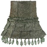 Moss Green Dangle Skirt Chandelier Shade