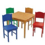 Nantuket Table and Four Primary Chairs