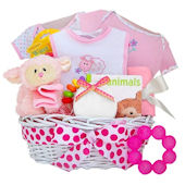 Pray With Me Girls Little Lamb Gift Basket