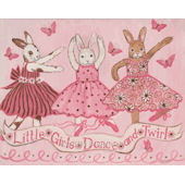 Little Girls Dance and Twirl II Wall Art