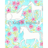 Pony Posies Wall Art