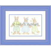 Three Bunnies  Wall Art