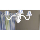 Polly Four Arm Bella Spindle Chandelier