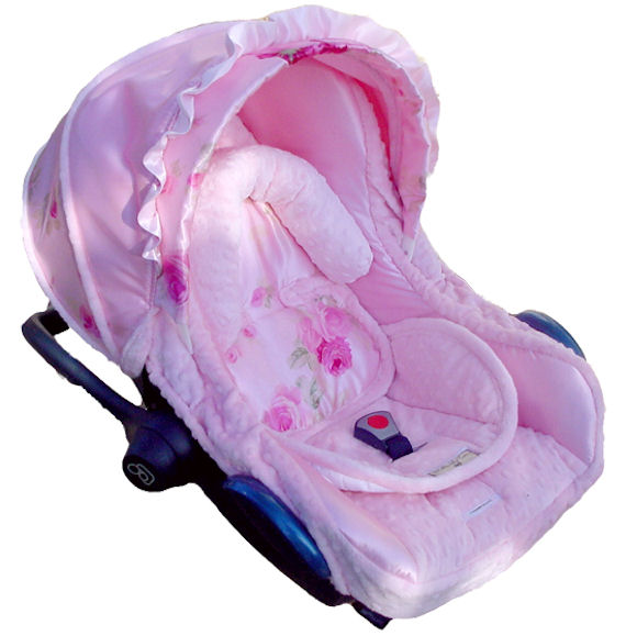 Nollie Baby Pink Rose Infant Car Seat Cover