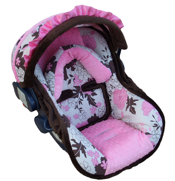 Nollie Baby Pink Tessa Infant Car Seat Cover The Frog