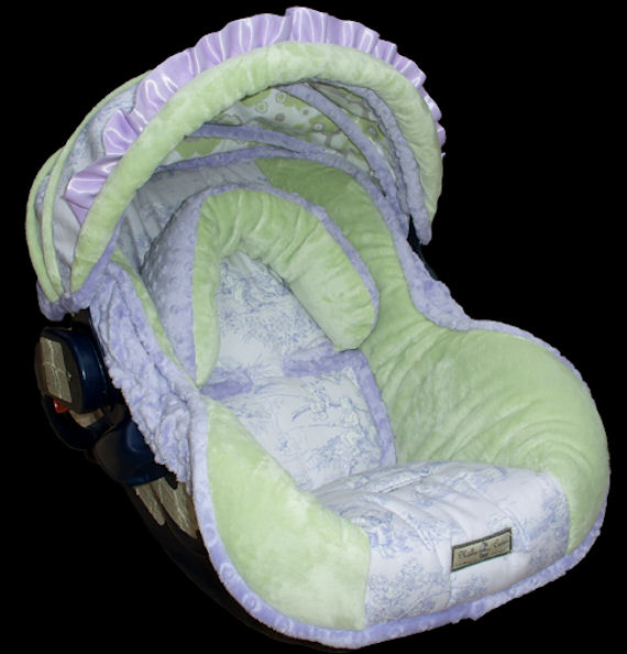 nollie baby lavender infant car seat cover the frog and the princess. Black Bedroom Furniture Sets. Home Design Ideas