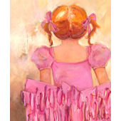 Angelic Ballerina Red Hair Wall Art