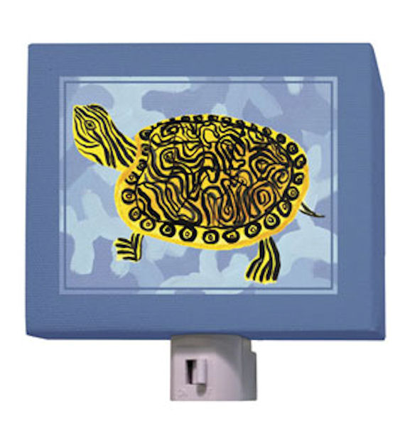 Blue Camo Turlte Night Light