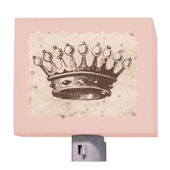 Chocolate Vintage Crown Night Light
