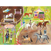 English Horse Show Mural Wall Art