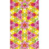 Kaleidoscope Yellow Sunburst  Wall Art