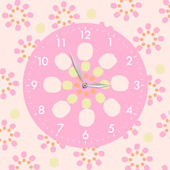 Meadow Friends Canvas Art with Clock