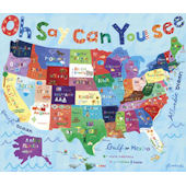Oh Say Can You See USA Map Wall Art