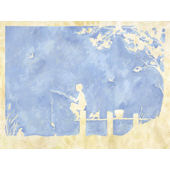 Toile Boy Gone Fishing Wall Art