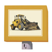 Yellow Bulldozer Night Light