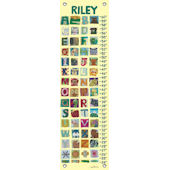 Canvas Animal Alphabet Growth Chart