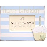 Happy Birthday Blue Cupcake Picture Frame