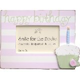 Happy Birthday Pink Cupcake Picture Frame