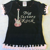 Big Sisters Rock with Guitar Tee Shirt