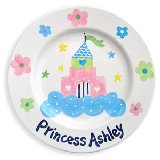 Castles and Flowers Personalized Plate