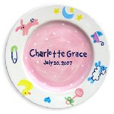 Charm Girl Personalized Plate