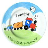 Choo Choo Boy Personalized Plate