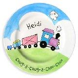 Choo Choo Girl Personalized Plate