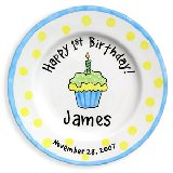 Cupcake Boy Personalized Plate