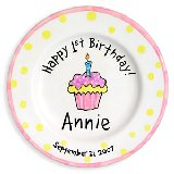 Cupcake Girl Personalized Plate
