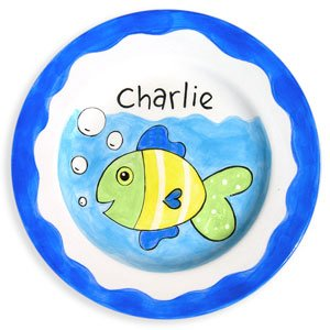 Fish Boy Personalized Plate