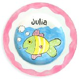 Fish Girl Personalized Plate
