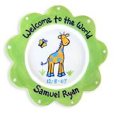 Giraffe Boy Personalized Plate