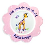 Giraffe Girl Personalized Plate
