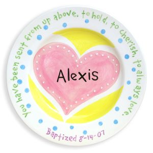 Heart Personalized Plate