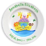 Noahs Ark Girl Personalized Plate